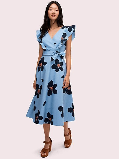 New York Flora Association Blog: Kate Spade New York Grand Flora Poplin Midi Dress