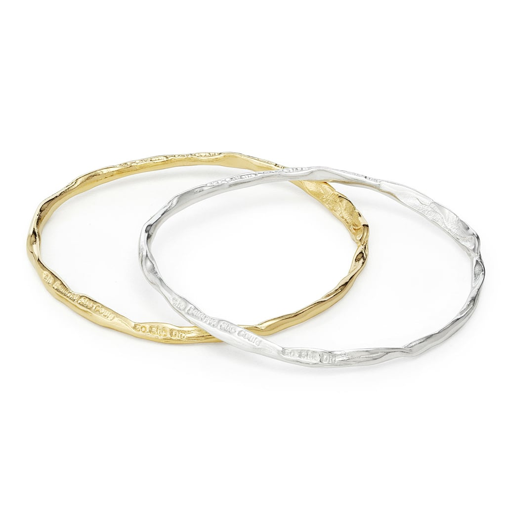 """She Believed She Could, So She Did"" Bangle ($115-$160)"