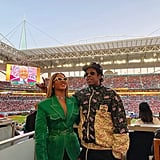 The pair appeared to be in good spirits at the 2020 Super Bowl in Miami.