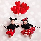 Mickey and Minnie Newborn Photo Shoot
