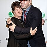 Donnie Wahlberg hugged his mother, Alma Elaine Wahlberg.