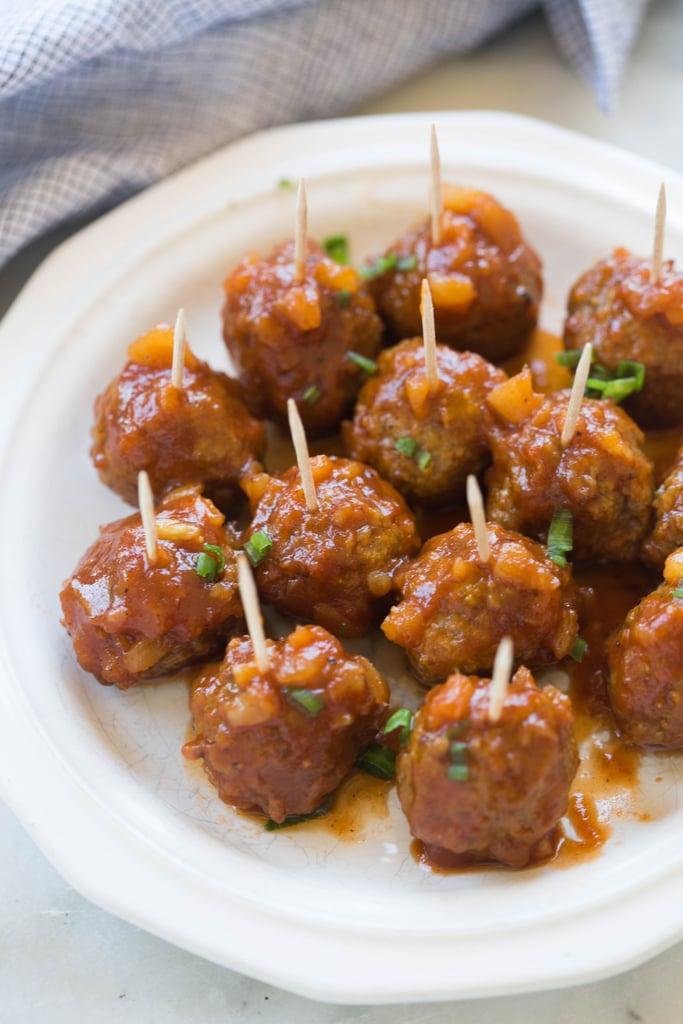 Hawaiian Barbecue Meatballs   Hawaiian Recipes   POPSUGAR ...