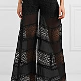 Charo Ruiz Zaira Crocheted Lace Cotton-Blend Pants