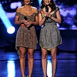 Minka Kelly and Leighton Meester hit the stage together in 2011.