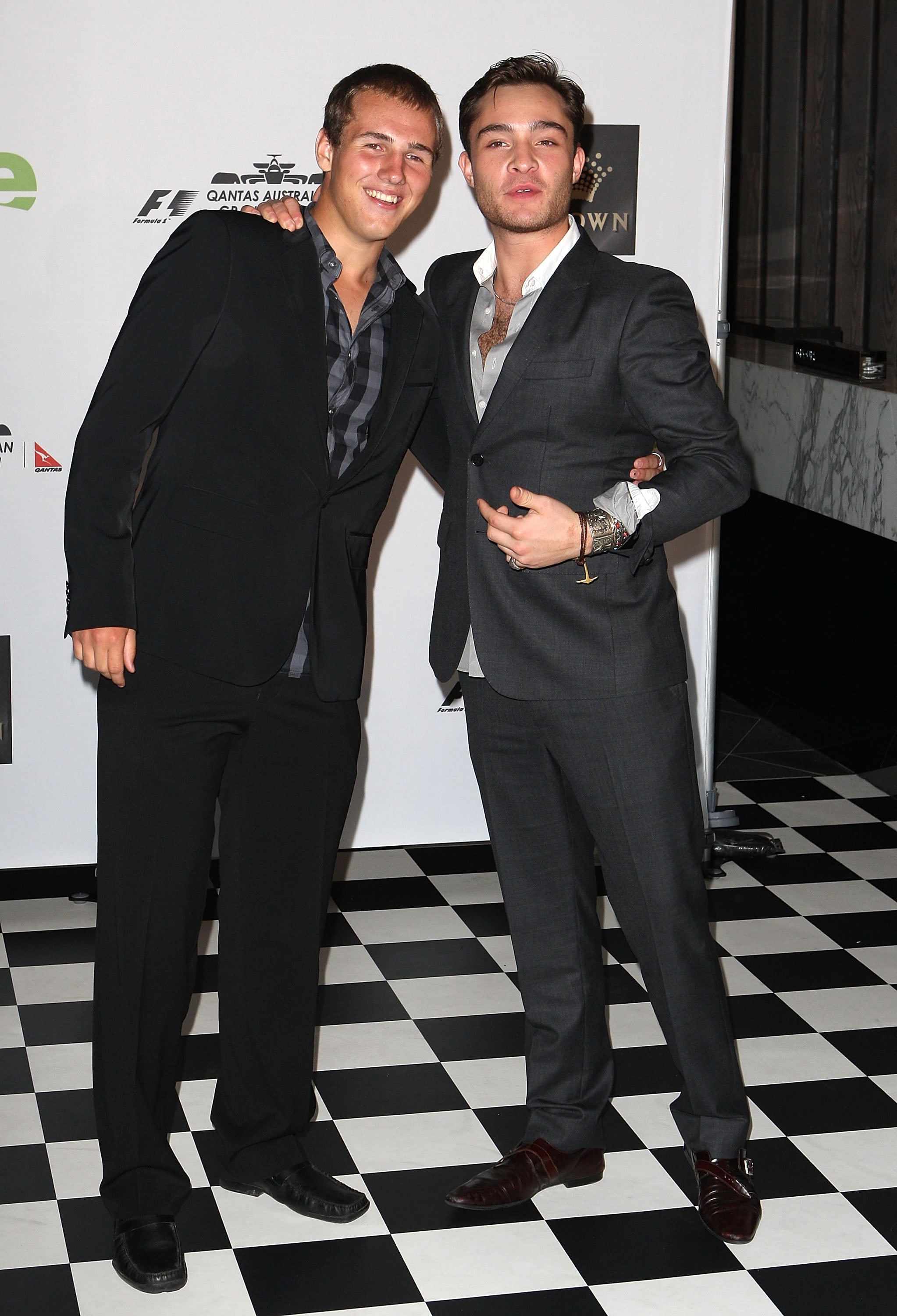 Ed Westwick and his cousin