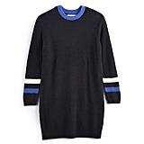 POPSUGAR at Kohl's Collection Striped Sweater Dress in Jet Black