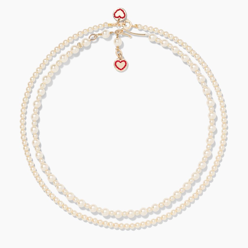 Roxanne Assoulin Knit One, Pearl Two Necklace Set