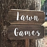 Lawn Games Sign​