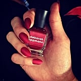Rich, silky nails by Deborah Lippmann were a hit at Badgley Mischka.