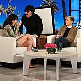 Kendall Jenner Wearing a Vetements Dress on The Ellen DeGeneres Show