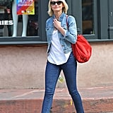 Cameron Diaz went for a walk in NYC.
