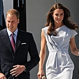 Prince William and Kate Middleton dressed up before touching down in LA.