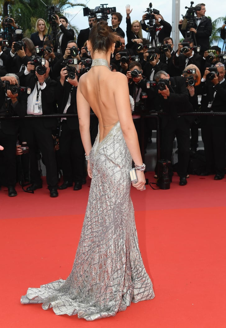 Gucci Link Chain >> Bella Hadid's Elie Saab Dress at Cannes 2018 | POPSUGAR ...