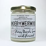 Under the Weirwood candle ($12) with pine, birch, snow, and firewood notes