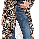 By The Way Freya Leopard Drape Trench