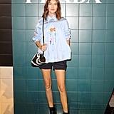 Alexa Chung at the Prada Milan Fashion Week Show