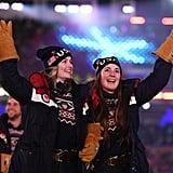 Athletes from Team USA enter the stadium.