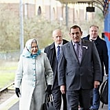 On Thursday, the queen arrived at King's Lynn station to head to Sandringham.