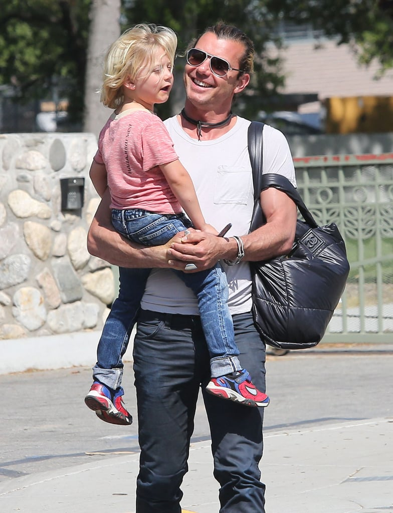 Zuma Rossdale got a lift from his dad, Gavin Rossdale.