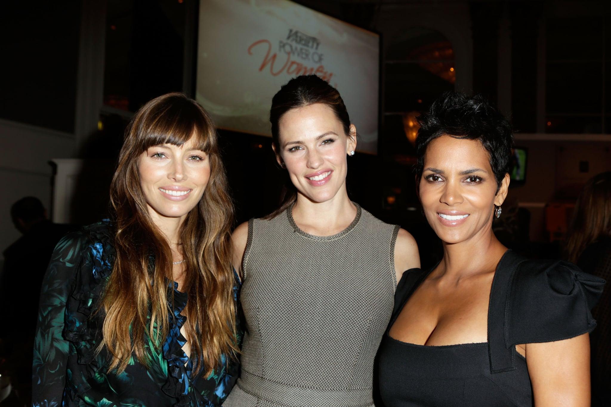 Jessica Biel posed with Jennifer Garner and Halle Berry.