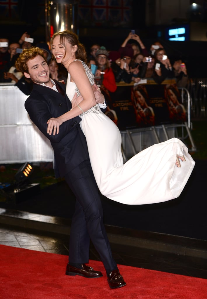 When He Swept Her Off Her Feet Sam Claflin And Laura
