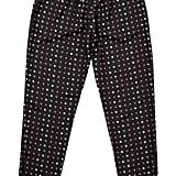Dot Foulard Crepe de Chine Pants ($325)