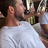 Liam Hemsworth Vacations With His Family in Australia