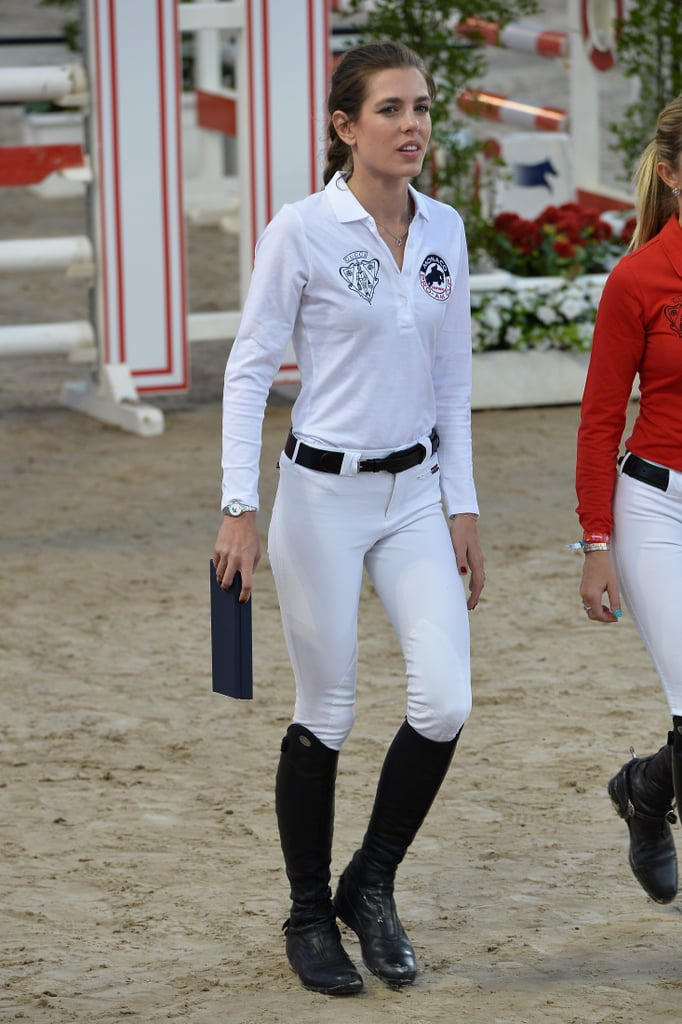Her Equestrian Uniform Is Fitted and Smart