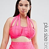Monif C Pink Strappy Bikini Top