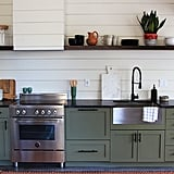 "Decorist Design Director Jessica McCarthy said, ""I love a simple shaker-style cabinet paired with an unexpected saturated color and unique hardware. A couple examples would be painting your cabinets a lacquered navy with modern brass hardware or going for a deep matte green with black hardware. The juxtaposition of classic and trendy is unpredictable and eye-catching."""