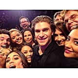 The Pretty Little Liars cast re-created Ellen DeGeneres's epic Oscars selfie. Source: Instagram user keeoone