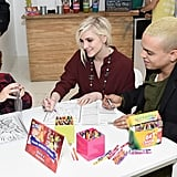 Pregnant Ashlee Simpson and husband Evan Ross treated her son, Bronx Wentz, to the Crayola Color Alive event in NYC on Thursday.