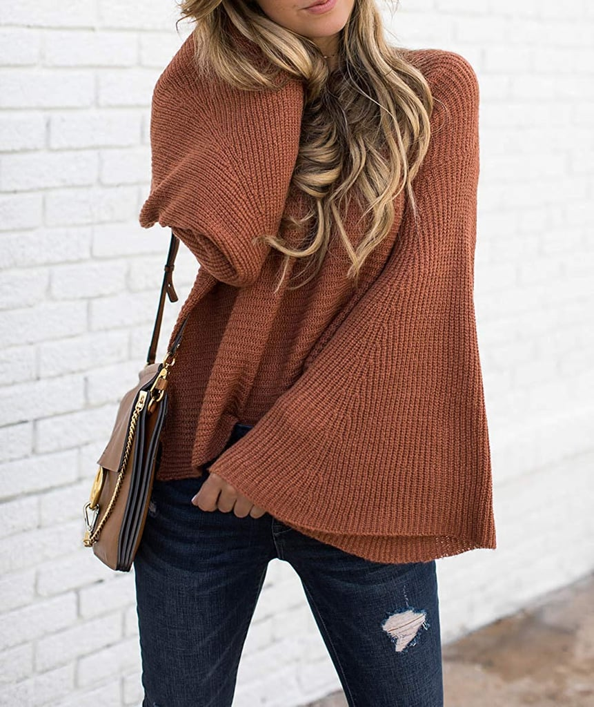 Hzsonne Bell-Sleeve Sweater