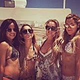 Ashley Tisdale celebrated her bachelorette party on a yacht with Vanessa Hudgens. Source: Instagram user vanessahudgens