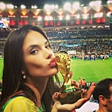 Alessandra Ambrosio showed her World Cup spirit. Source: Instagram user alessandraambrosio