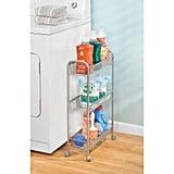 mDesign Portable Rolling Laundry Utility Cart Organiser