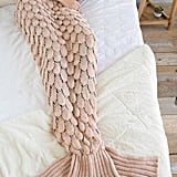 Francesca's Blush Cozy Mermaid Blanket
