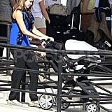 Actress Jessica Alba arrived at the airport in Mexico with her family and friends for a holiday vacation on December 27, 2011. Jessica pushed her daughter Haven Warren in the stroller to a near by car where her husband Cash Warren and eldest daughter Honor awaited her arrival to head to their next destination.