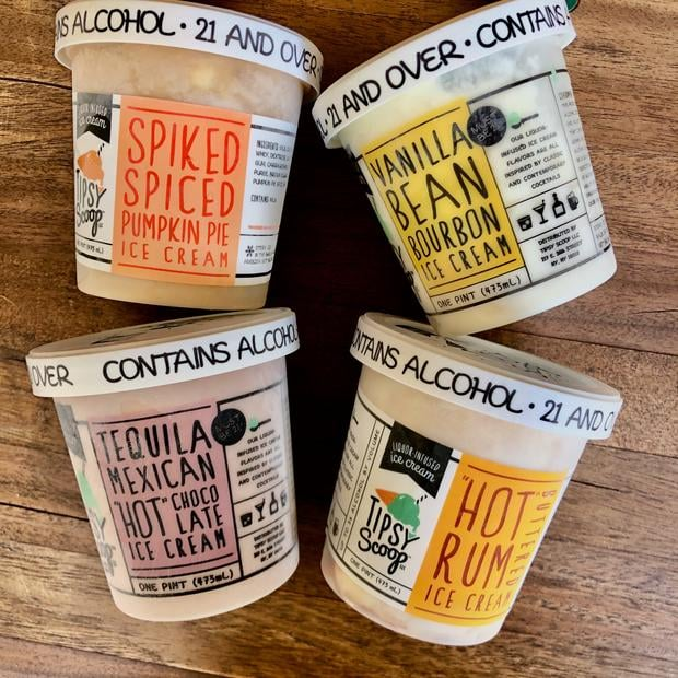 Tipsy Scoop Fall Ice Cream Flavours