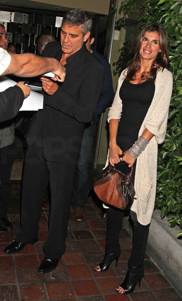 Pictures of George Clooney and Elisabetta