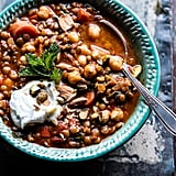 Crockpot Moroccan Lentil and Chickpea Soup