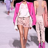She Also Wore a Pastel Pink Look That Made Her Legs Look Miles Long