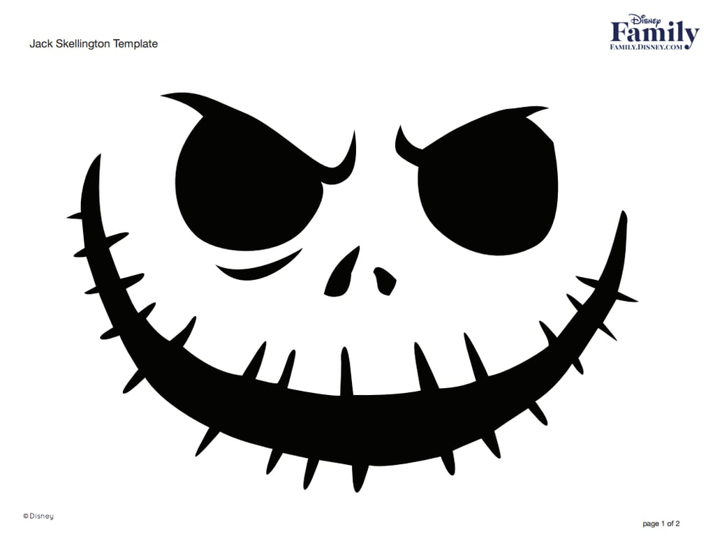 Williams Auto Sales >> Jack Skellington | Free Disney Pumpkin Stencils | POPSUGAR Smart Living UK Photo 11