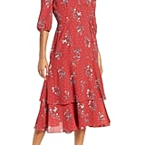 Chelsea28 Floral & Dot Print Tiered Wrap Dress
