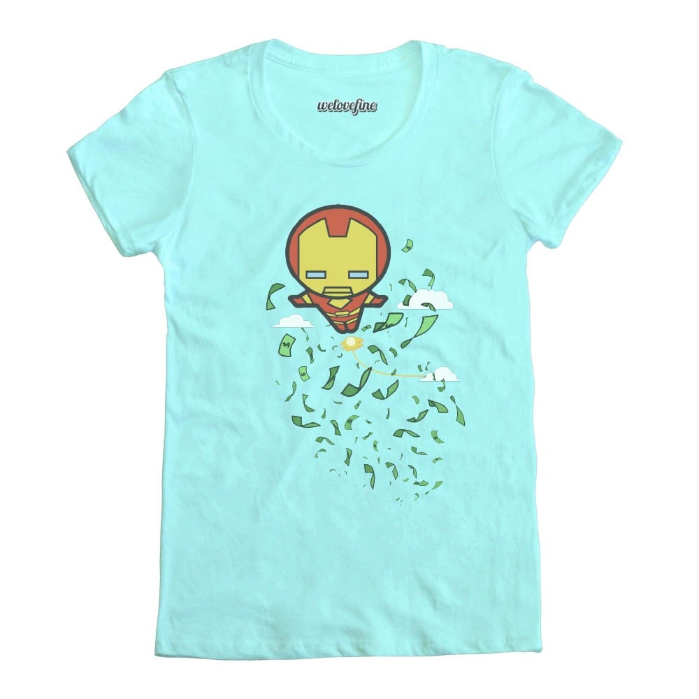 Iron Man (Tony Stark) is a billionaire! He'll do what he wants, including drop money from the sky ($25).