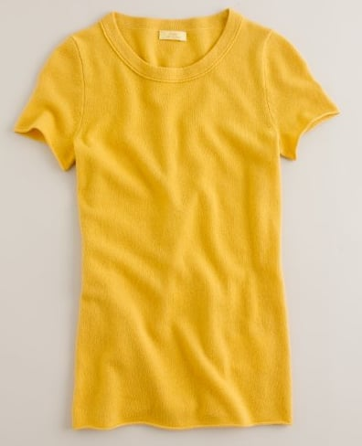 There are tees, then there are Fall-ready cashmere tees like this J.Crew Cashmere Short-Sleeve Tee ($98).