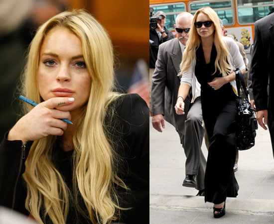 Pictures of Lindsay Lohan in Court