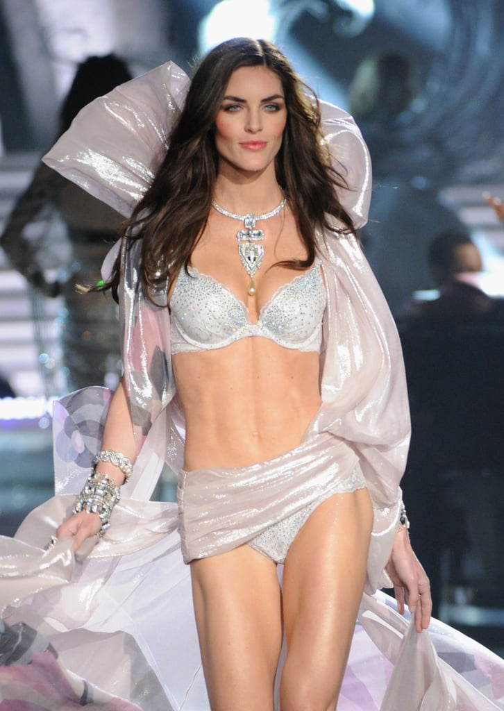 Hilary Rhoda walked in the Victoria's Secret Fashion Show.