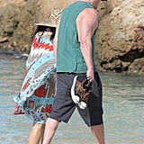 Channing Tatum and his pregnant wife Jenna Dewan walked along the beach together.