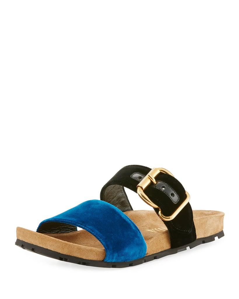 Prada Double-Strap Flat Slide Sandal
